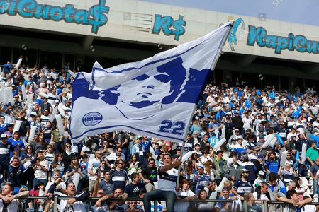 Gimnasia y Esgrima fans attend the first game with Diego Maradona as the head coach of the team against Racing Club, at the Juan Carmelo Zerillo Stadium, in La Plata, Argentina, 15 September 2019.