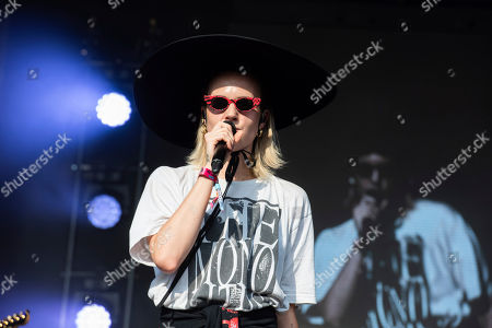 Karen Marie Aagaard Orsted Andersen, M', Karen Marie Aagaard 'rsted Andersen. MO performs on stage during Day 2 of Music Midtown 2019, in Atlanta