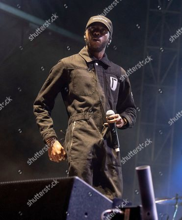 Stock Image of 6lack performs on stage during Day 2 of Music Midtown 2019, in Atlanta