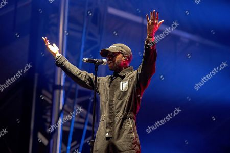 Stock Photo of 6lack performs on stage during Day 2 of Music Midtown 2019, in Atlanta