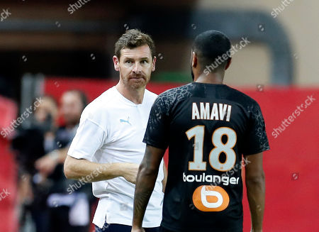 Marseille's Portuguese head coach Andre Villas-Boas during the French Ligue 1 soccer match, AS Monaco vs Olympique Marseille, at Stade Louis II, in Monaco, 15 September 2019.