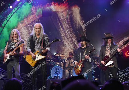 Mark Matejka, Rickey Medlocke, Gary Rossington and Keith Christopher