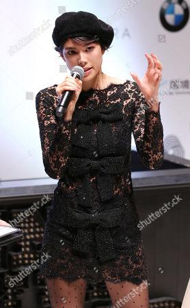 Japanese model Hikari Mori attends the opening ceremony