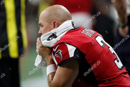 Atlanta Falcons kicker Matt Bryant (3) watches play against the Philadelphia Eagles during the first half of an NFL football game, in Atlanta