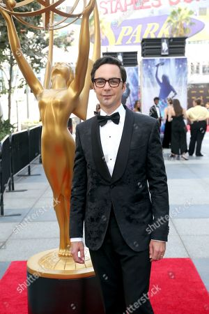 Jim Parsons arrives at night two of the Television Academy's 2019 Creative Arts Emmy Awards, at the Microsoft Theater in Los Angeles