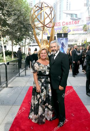 Jon Cassar, Tina Cassar. Jon Cassar, right, and Tina Cassar arrive at night two of the Television Academy's 2019 Creative Arts Emmy Awards, at the Microsoft Theater in Los Angeles