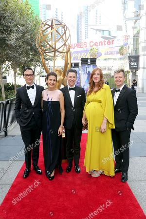 Jim Parsons, left, and guests arrive at night two of the Television Academy's 2019 Creative Arts Emmy Awards, at the Microsoft Theater in Los Angeles