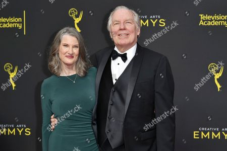 Stock Image of Annette O'Toole, Michael McKean. Annette O'Toole, left, and Michael McKean arrive at night two of the Creative Arts Emmy Awards, at the Microsoft Theater in Los Angeles