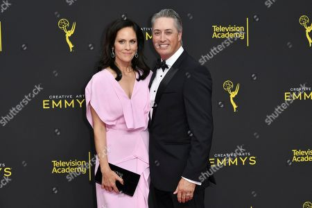 Annabeth Gish, Wade Allen. Annabeth Gish, left, and Wade Allen arrive at night two of the Creative Arts Emmy Awards, at the Microsoft Theater in Los Angeles