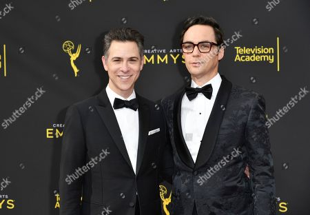 Todd Spiewak, Jim Parsons. Todd Spiewak, left, and Jim Parsons arrive at night two of the Creative Arts Emmy Awards, at the Microsoft Theater in Los Angeles