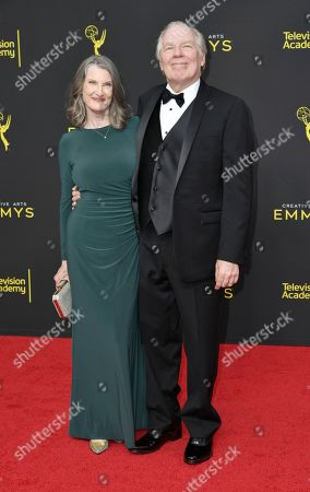 Annette O'Toole, Michael McKean. Annette O'Toole, left, and Michael McKean arrive at night two of the Creative Arts Emmy Awards, at the Microsoft Theater in Los Angeles