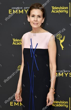 Jessica Hecht arrives at night two of the Creative Arts Emmy Awards, at the Microsoft Theater in Los Angeles