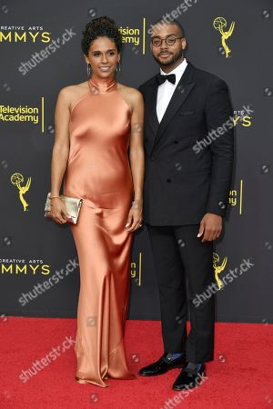 Kris Bowers, Briana Henry. Briana Henry, left, and Kris Bowers arrive at night two of the Creative Arts Emmy Awards, at the Microsoft Theater in Los Angeles