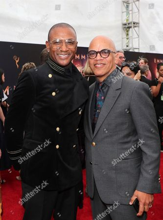 Tommy Davidson, Rickey Minor. Tommy Davidson, left, and Rickey Minor arrive at night two of the Television Academy's 2019 Creative Arts Emmy Awards, at the Microsoft Theater in Los Angeles