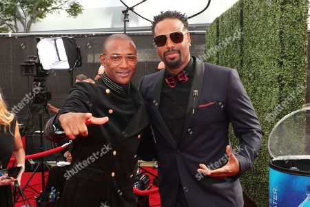 Tommy Davidson, Shawn Wayans. Tommy Davidson, left, and Shawn Wayans arrive at night two of the Television Academy's 2019 Creative Arts Emmy Awards, at the Microsoft Theater in Los Angeles