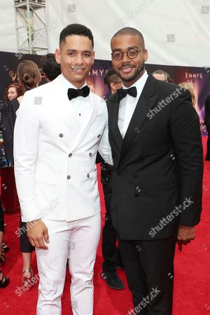 Charlie Barnett, Kris Bowers. Charlie Barnett, left, and Kris Bowers arrive at night two of the Television Academy's 2019 Creative Arts Emmy Awards, at the Microsoft Theater in Los Angeles