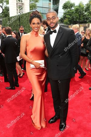 Briana Henry, Kris Bowers. Briana Henry, left, and Kris Bowers arrive at night two of the Television Academy's 2019 Creative Arts Emmy Awards, at the Microsoft Theater in Los Angeles