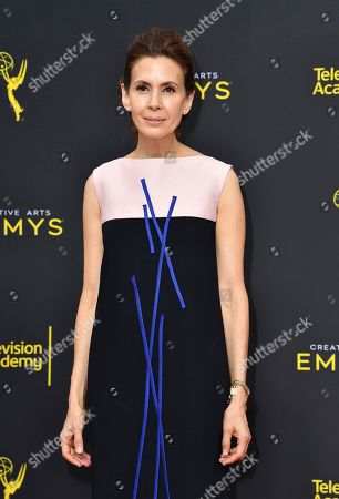Jessica Hecht arrives at night two of the Television Academy's 2019 Creative Arts Emmy Awards, at the Microsoft Theater in Los Angeles
