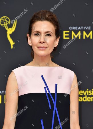 Stock Picture of Jessica Hecht arrives at night two of the Television Academy's 2019 Creative Arts Emmy Awards, at the Microsoft Theater in Los Angeles