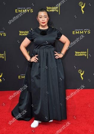 Ane Crabtree arrives at night two of the Television Academy's 2019 Creative Arts Emmy Awards, at the Microsoft Theater in Los Angeles