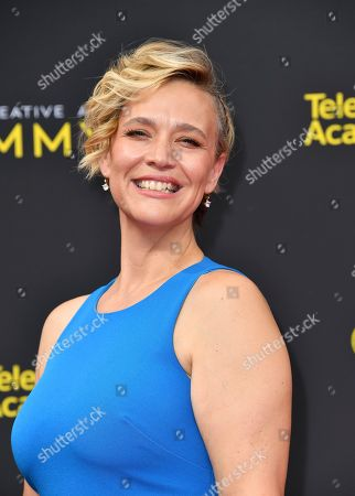 Stock Image of Tiffany Little Canfield arrives at night two of the Television Academy's 2019 Creative Arts Emmy Awards, at the Microsoft Theater in Los Angeles