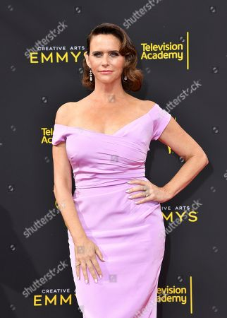 Amy Landecker arrives at night two of the Television Academy's 2019 Creative Arts Emmy Awards, at the Microsoft Theater in Los Angeles