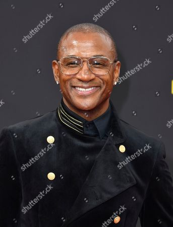 Tommy Davidson arrives at night two of the Television Academy's 2019 Creative Arts Emmy Awards, at the Microsoft Theater in Los Angeles