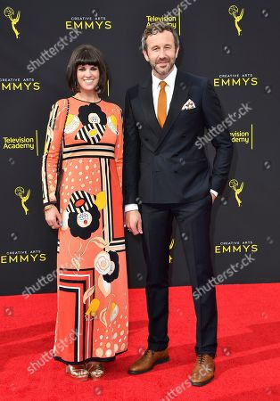 Chris O'Dowd, Dawn O'Porter. Dawn O'Porter, left, and Chris O'Dowd arrive at night two of the Television Academy's 2019 Creative Arts Emmy Awards, at the Microsoft Theater in Los Angeles