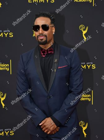 Shawn Wayans arrives at night two of the Television Academy's 2019 Creative Arts Emmy Awards, at the Microsoft Theater in Los Angeles