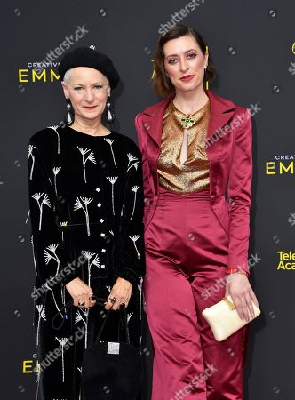 Analucia McGorty, Lou Eyrich. Lou Eyrich, left, and Analucia McGorty arrive at night two of the Television Academy's 2019 Creative Arts Emmy Awards, at the Microsoft Theater in Los Angeles