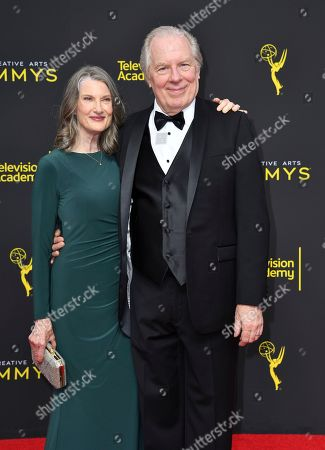 Stock Picture of Michael McKean, Annette O'Toole. Annette O'Toole, left, and Michael McKean arrive at night two of the Television Academy's 2019 Creative Arts Emmy Awards, at the Microsoft Theater in Los Angeles