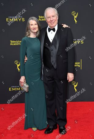 Stock Photo of Michael McKean, Annette O'Toole. Annette O'Toole, left, and Michael McKean arrive at night two of the Television Academy's 2019 Creative Arts Emmy Awards, at the Microsoft Theater in Los Angeles