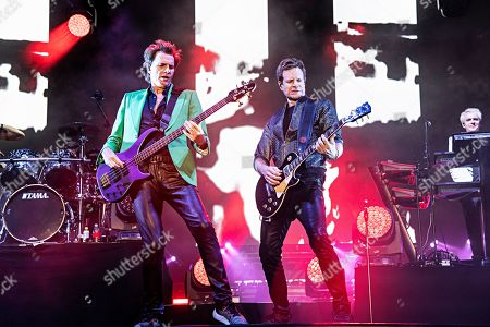 John Taylor Dominic Brown. John Taylor, left, and Dominic Brown of Duran Duran perform during KAABOO 2019 at the Del Mar Racetrack and Fairgrounds, in Del Mar, Calif