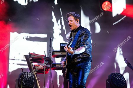 Dominic Brown of Duran Duran performs during KAABOO 2019 at the Del Mar Racetrack and Fairgrounds, in Del Mar, Calif