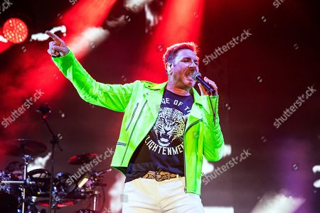 Simon Le Bon of Duran Duran performs during KAABOO 2019 at the Del Mar Racetrack and Fairgrounds, in Del Mar, Calif