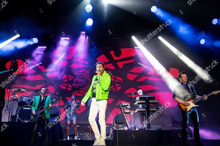 Simon Le Bon John Taylor Dominic Brown. John Taylor, from left, Simon Le Bon, and Dominic Brown of Duran Duran perform during KAABOO 2019 at the Del Mar Racetrack and Fairgrounds, in Del Mar, Calif