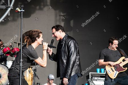 Bob Saget David Shaw. Actor/comedian Bob Saget performs with David Shaw of The Revivalists during KAABOO 2019 at the Del Mar Racetrack and Fairgrounds, in Del Mar, Calif