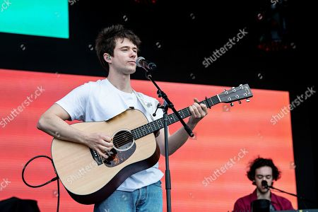 Stock Picture of Alec Benjamin performs during KAABOO 2019 at the Del Mar Racetrack and Fairgrounds, in Del Mar, Calif