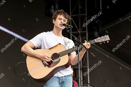 Stock Image of Alec Benjamin performs during KAABOO 2019 at the Del Mar Racetrack and Fairgrounds, in Del Mar, Calif
