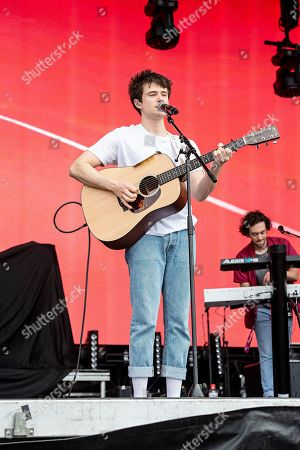 Stock Photo of Alec Benjamin performs during KAABOO 2019 at the Del Mar Racetrack and Fairgrounds, in Del Mar, Calif