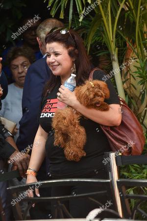 CNN news Anchor Ana Navarro with her dog Chacha.