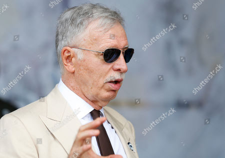 Los Angeles Rams owner Stan Kroenke before the NFL game between the Los Angeles Rams and the New Orleans Saints at the Los Angeles Coliseum in Los Angeles, California