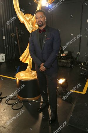 Shawn Wayans backstage at night two of the Television Academy's 2019 Creative Arts Emmy Awards, at the Microsoft Theater in Los Angeles