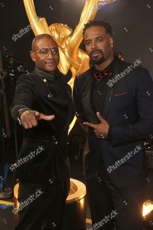 Tommy Davidson, Shawn Wayans. Tommy Davidson, left, and Shawn Wayans backstage at night two of the Television Academy's 2019 Creative Arts Emmy Awards, at the Microsoft Theater in Los Angeles