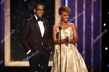 Ron Cephas Jones, Ryan Michelle Bathe. Ron Cephas Jones, left, and Ryan Michelle Bathe present the award for outstanding actress in a short form comedy or drama series on night two of the Television Academy's 2019 Creative Arts Emmy Awards, at the Microsoft Theater in Los Angeles