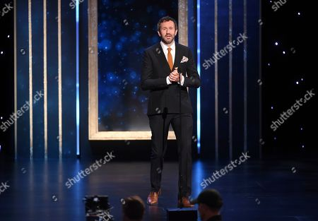 Chris O'Dowd presents the award for outstanding casting for a drama series on night two of the Television Academy's 2019 Creative Arts Emmy Awards, at the Microsoft Theater in Los Angeles