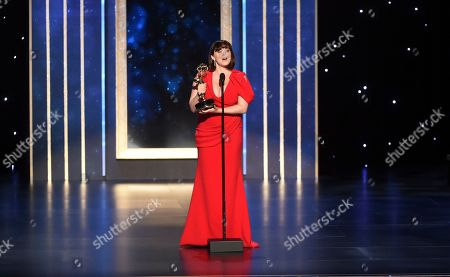 Rachel Bloom presents the award for Outstanding Choreography for Scripted Programing on night two of the Television Academy's 2019 Creative Arts Emmy Awards, at the Microsoft Theater in Los Angeles