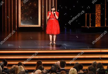 Rachel Bloom performs on stage on night two of the Television Academy's 2019 Creative Arts Emmy Awards, at the Microsoft Theater in Los Angeles