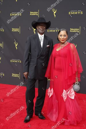 Stock Picture of Glynn Turman (L) and his wife Joann Allen (R) arrive for the 2019 Creative Arts Emmy Awards at the Microsoft Theater in Los Angeles, California, USA, 15 September 2019. The Creative Arts Emmy Awards honor excellence in Television technical categories such as makeup, casting direction, costume design, editing and cinematography. The 71st Primetime Emmy Awards Ceremony will take place on 22 September 2019.