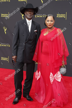 Glynn Turman (L) and his wife Joann Allen (R) arrive for the 2019 Creative Arts Emmy Awards at the Microsoft Theater in Los Angeles, California, USA, 15 September 2019. The Creative Arts Emmy Awards honor excellence in Television technical categories such as makeup, casting direction, costume design, editing and cinematography. The 71st Primetime Emmy Awards Ceremony will take place on 22 September 2019.